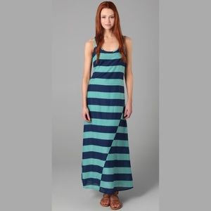 Splendid Wide Rugby Striped Silk Blend Maxi Dress